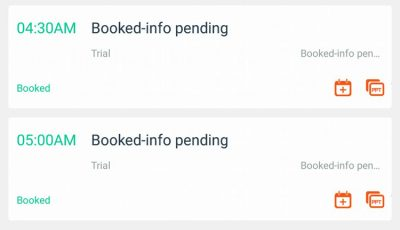 booked - info pending VIPKID trial class
