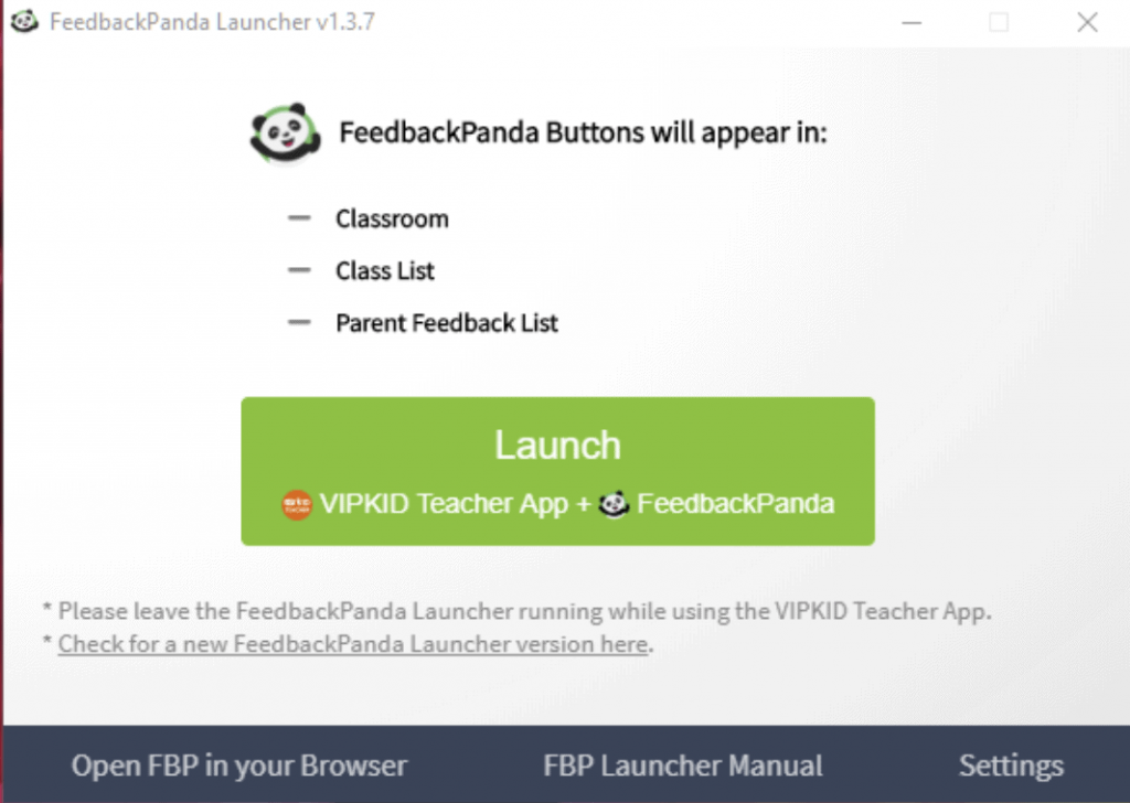 student feedback templates launcher