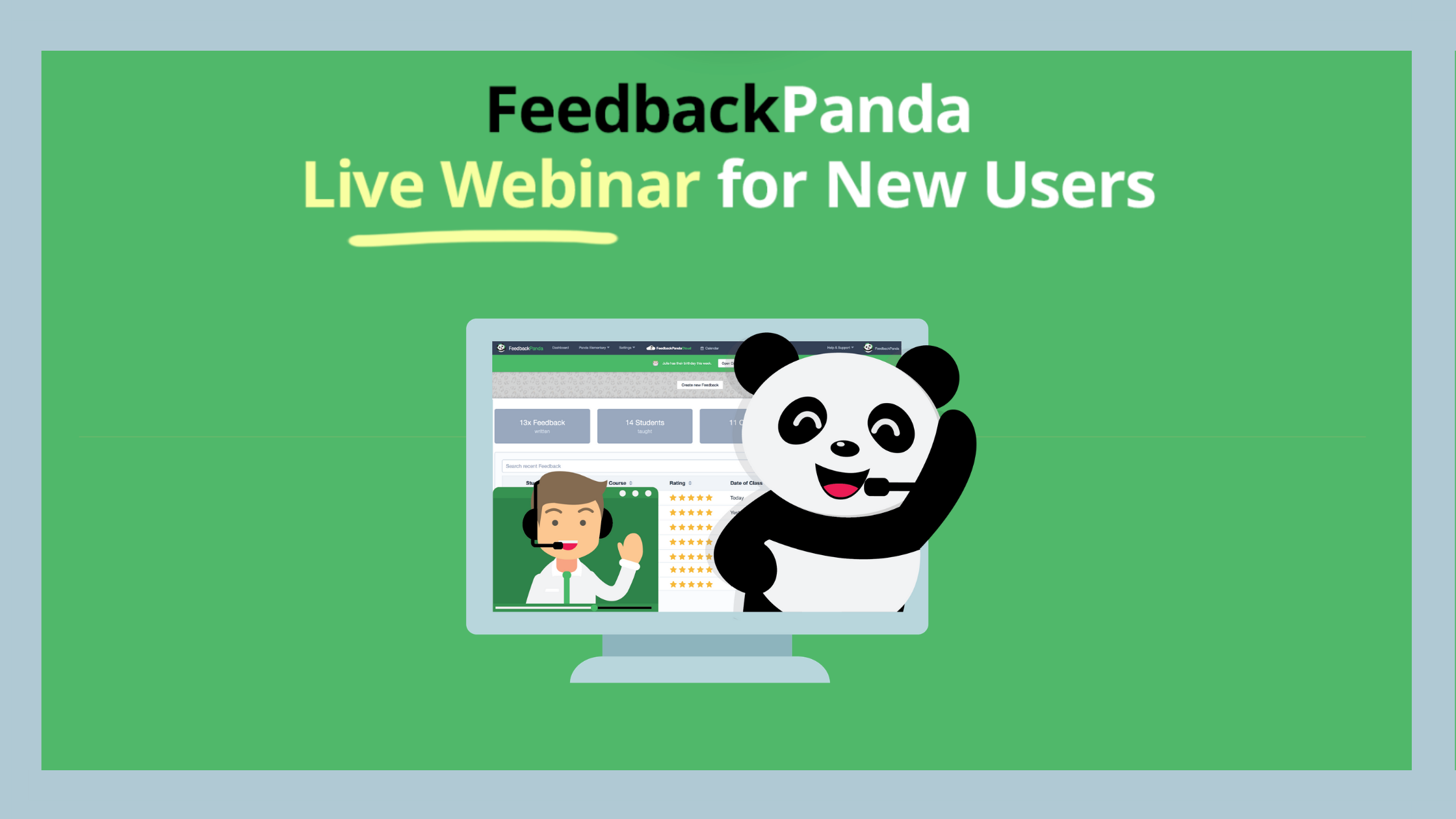 FeedbackPanda Live Webinar for New Users